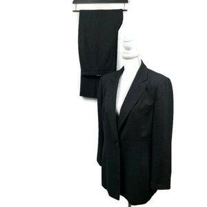 Le Suit Women's Pant Suit Sz 12 Black Gray Career